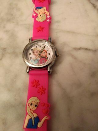 Reloj de niña d Frozen + regalo stickers