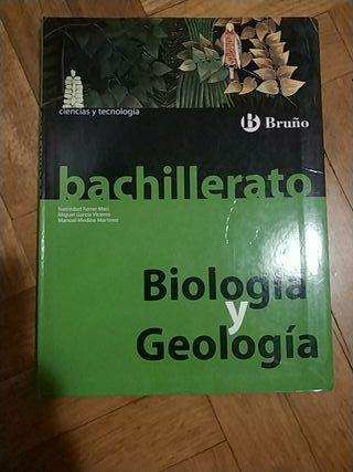 Libro Biología y Geología bruño bachillerato