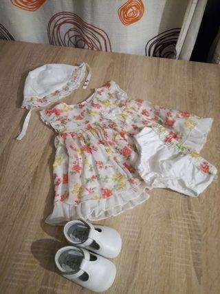 conjunto niña vestido