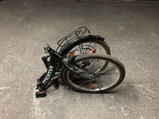2 bicicletas totalmente plegables