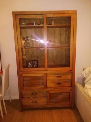 Libreria de madera natural
