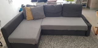 Sofá cama Friheten gris de Ikea nuevo