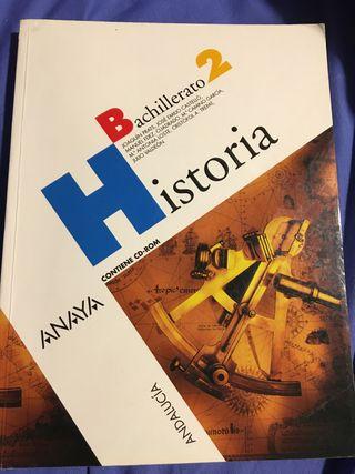 Libro 2° de bachillerato historia anaya
