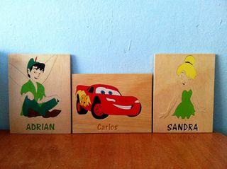Cuadro infantil de madera personalizado con nombre