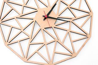 Reloj de pared, madera, 38cm. chic moderno vintage