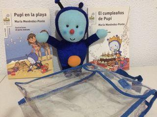 Serie Pupi. 2 Pack Mochila/libros/peluche.