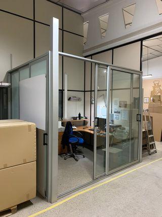 Mamparas separación oficinas