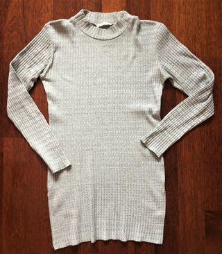 Jersey Vestido Shana XL Gris Jaspeado