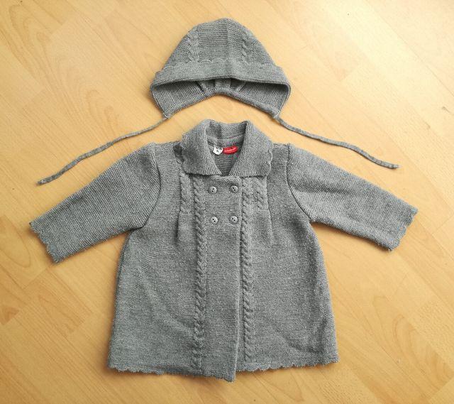 Abrigo lana y capota niña 12 meses DOÑA CARMEN.