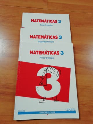 libros matemáticas 3°primaria. Anaya