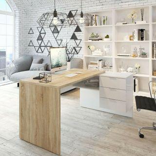 Mesa de escritorio u oficina reversible
