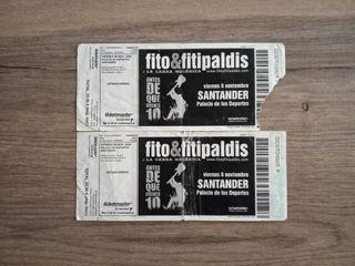 2 entradas antiguas Fito&Fitipaldis
