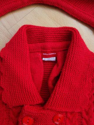 Abrigo lana y capota niña 24 meses DOÑA CARMEN.