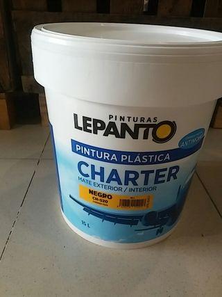 PINTURA NRGRA PLASTICA 15L