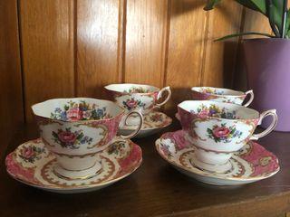 Set de tazas para té Royal Albert