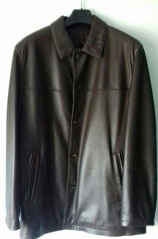 chaqueta piel marrón