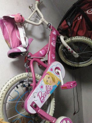 Bicicleta Junior Barbie + casco