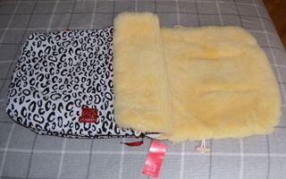 Saco para carrito bebé lana de oveja natural 100%