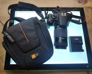 Cámara Canon EOS Rebel T5 + objetivo EFS 55-250mm