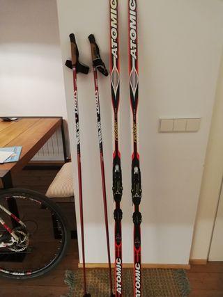 esquí Atomic skating fondo nuevos