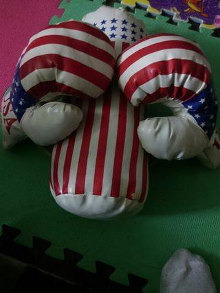 guantes y bolso de boxe