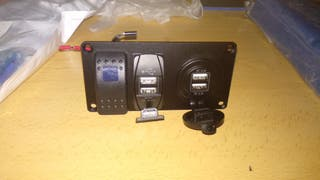 Panel USB para coche/tractor basculante on/off