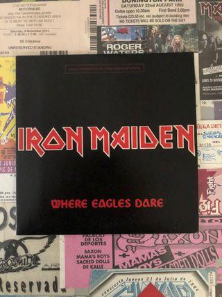 """Iron Maiden Where eagles dare 7"""""""