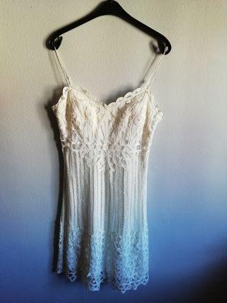 Vestido blanco roto novia