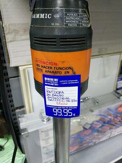 Batidora de brazo industrial sammic tr-330