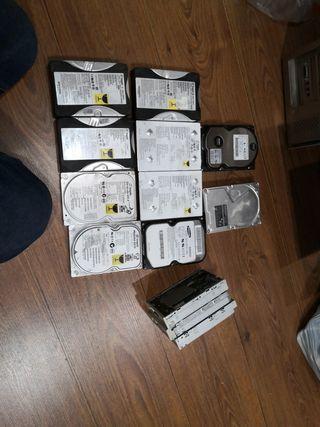 """Lote discos duros IDE y disqueteras 3,5"""""""