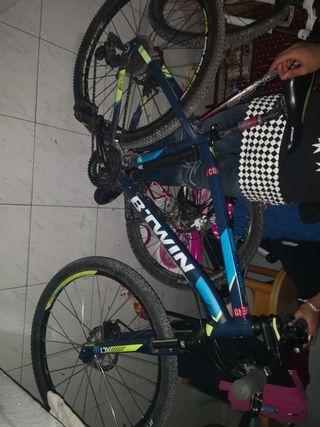 bicicleta btwin con frenos de disco