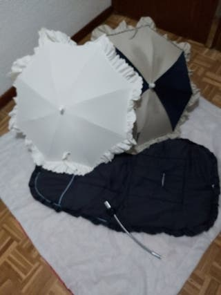 Sombrillas y funda de silla o maxicosi