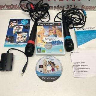 PS2 singstar juego y micrófonos usb
