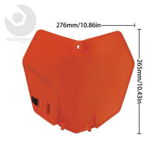 Careta placa portanumero KTM 12-16