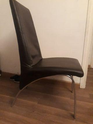 6 sillas con funda gris
