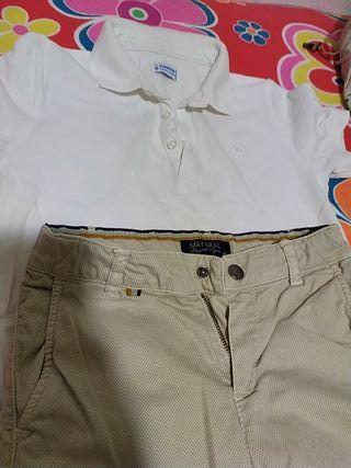 polo y pantalón chino niño