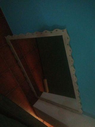 espejo de forja pesado