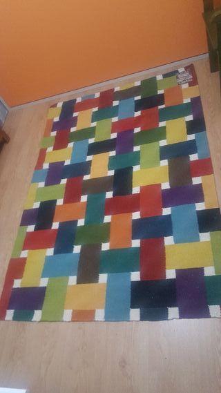 Alfombra Kilim tejido a mano en lana- 180x120 cm