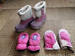 esquí descanso guantes