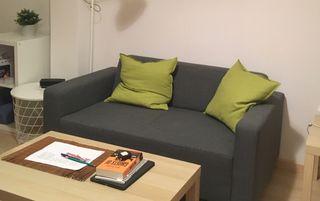Sofa gris Ikea