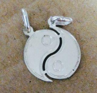 colgante yin yang doble de plata