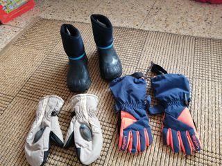 esquí descansos guantes