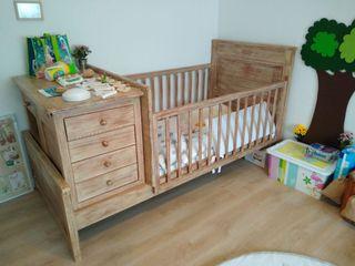 Habitación infantil armario+escritorio+cuna+cama..