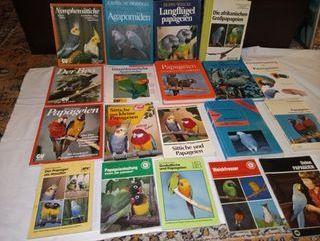 libros varios sobre Papagayos en ALEMAN