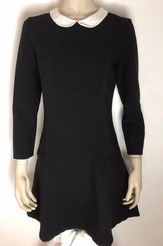 Vestido negro cuello bebe