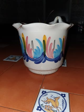 macetero de cerámica vintage