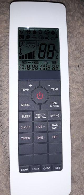 mando de control remoto de aire acondicionado