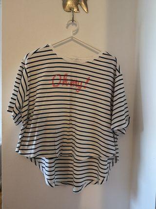 Camiseta Zara TRF estampado marinero con letras