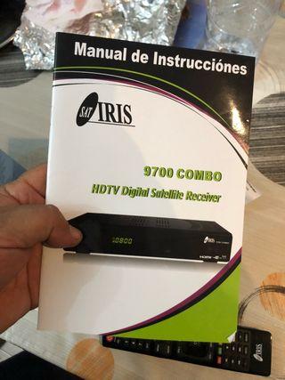 Receptor satélite digital y terr.HD wifi iris