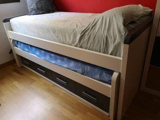 cama nido con cajones inferiores